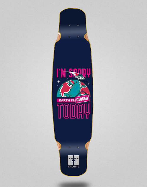 Cromic Covid Earth blue longboard deck dance 46x9