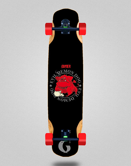 Glutier Demon dog longboard complete 38x8.45