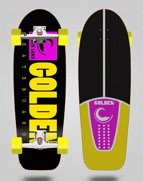 Golden Sand surfskate SGI Icon black pink yellow 30.5