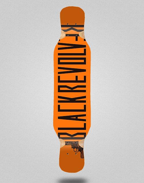 Black Revolver Color orange longboard deck 46x10