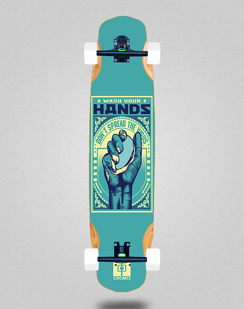 Cromic Covid Wash your hands longboard complete 38x8.45