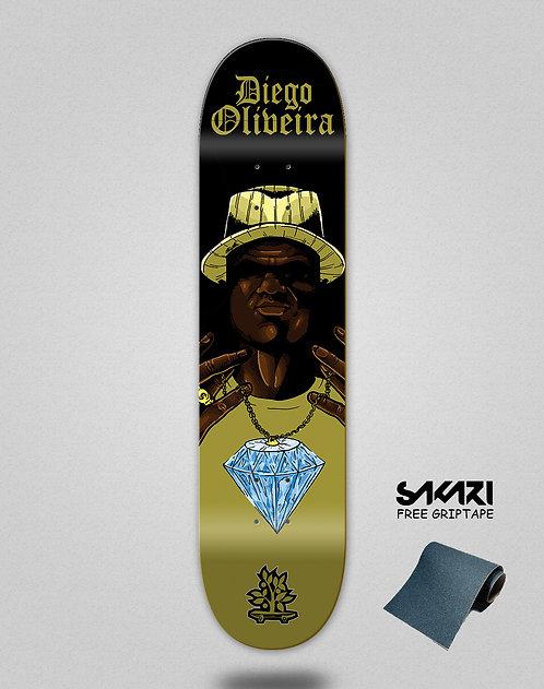 Wood light skate deck Oliveira pro diamond