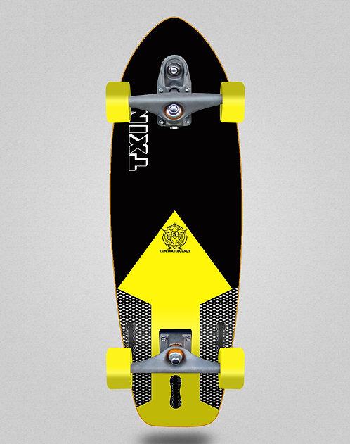 Txin surfskate - Shaper blk yellow 31 T12 trucks