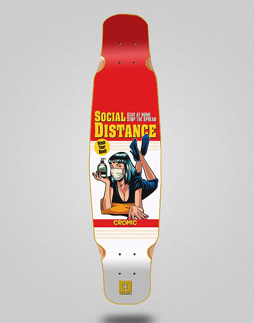 Cromic Covid Social distance longboard deck dance 46x9
