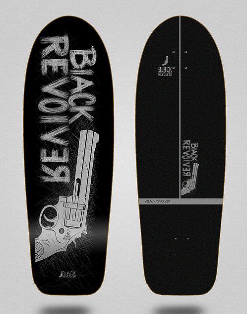 Black Revolver surfskate deck Big gun black grey 30,5