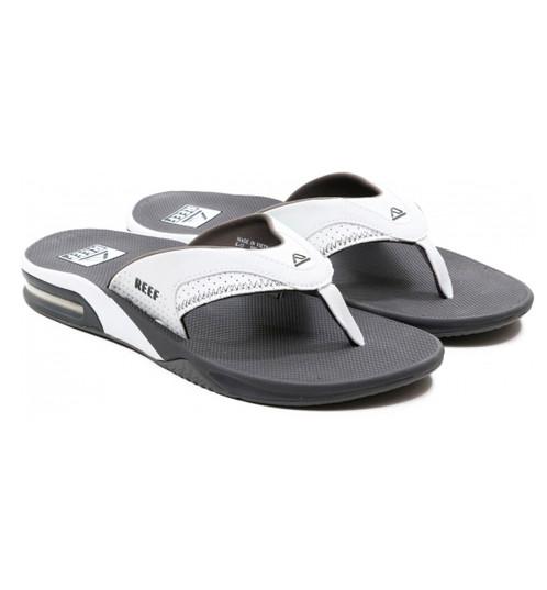 a38d76e64c0 Sandalias chanclas cholas sandals Reef Fanning grey white