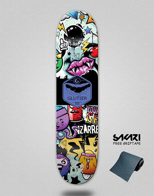 Glutier Mix blue skate deck