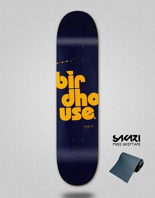 Birdhouse Stacked Spray Navy 7.75