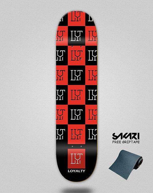 Loyalty deck Squares black red