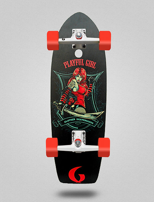 Glutier surfskate - Playfull girl 29