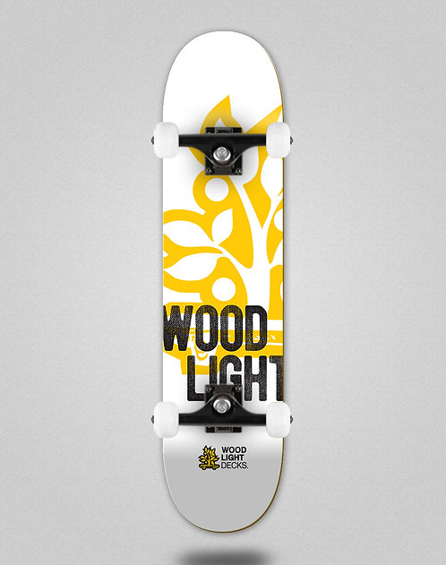 Wood light Graphic bass white skate complete
