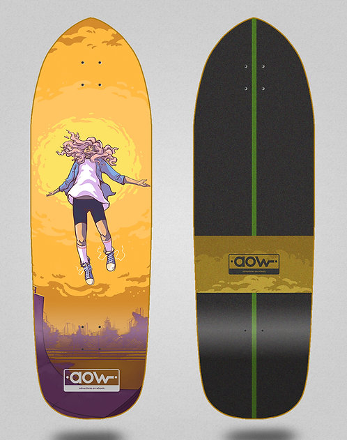 Aow surfskate deck Floating yellow 33.5