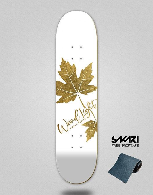 Wood light skate deck maple gold Oliveira