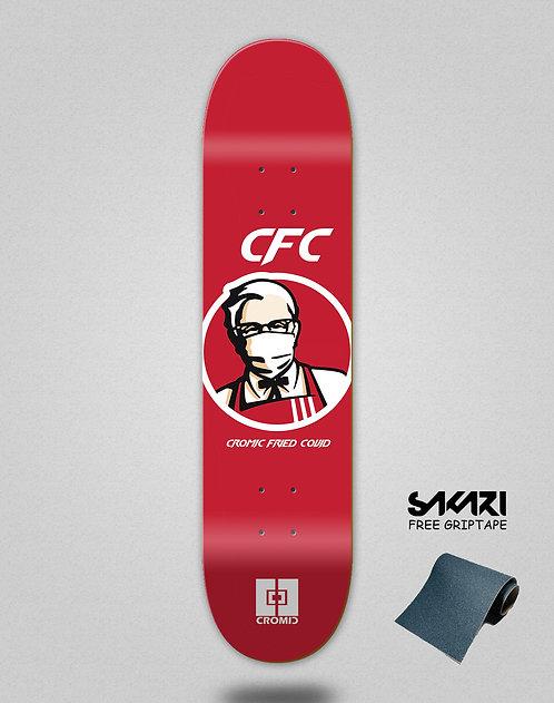 Cromic Covid Fried skate deck