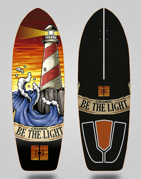 Cromic surfskate deck Be the light 29