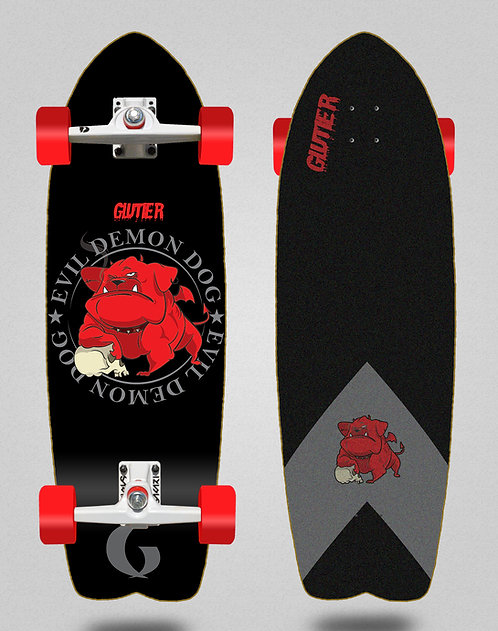 Glutier surfskate - Demon dog 29