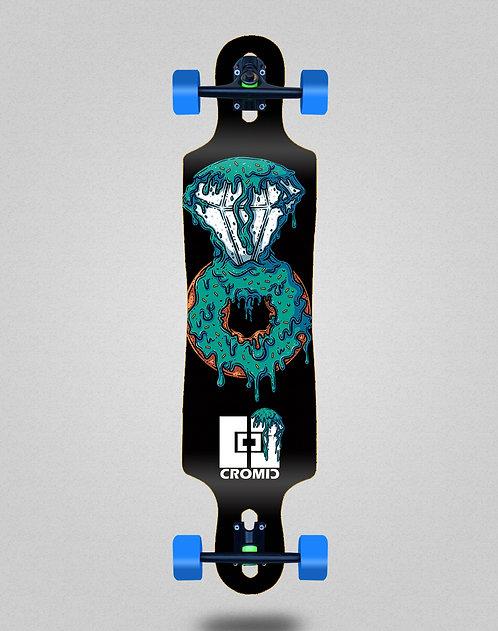 Cromic Donat blue longboard complete 40x9