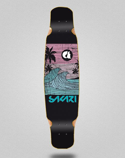 Sakari Cali dream blue longboard deck dance 46x9