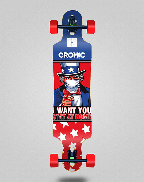 Cromic Covid I want you longboard complete 40x9