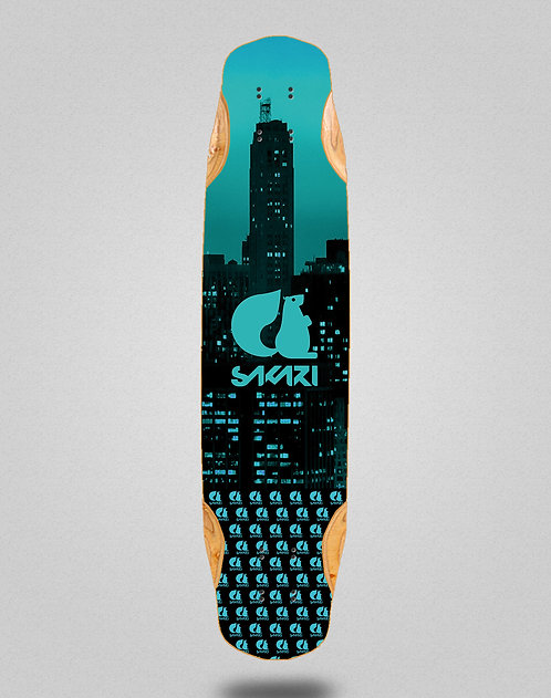 Sakari City blue longboard deck 38x8.45