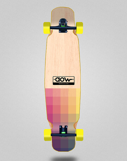 Aow Pixels longboard bamboo dance complete 46x9