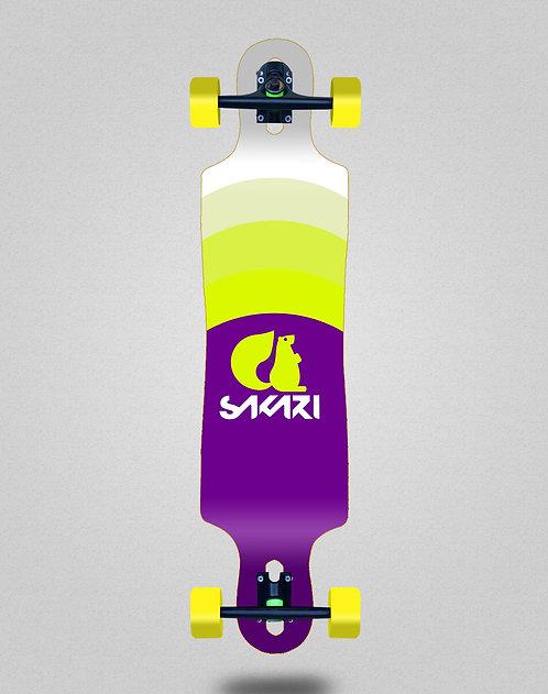 Sakari City tricks longboard complete 40x9