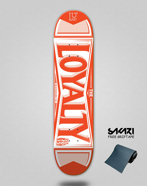 Loyalty deck Label red