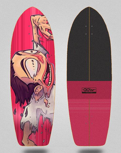Aow surfskate deck Fastskate red 30