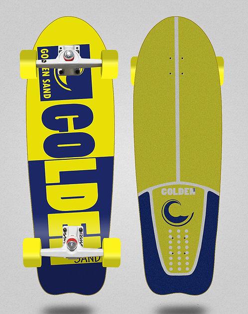 Golden Sand surfskate SGI Degraded tone blue yellow 31 fish