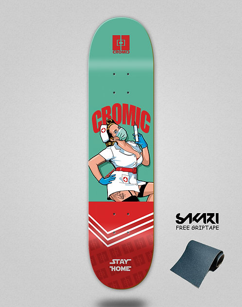 Cromic Covid Nurse skate deck