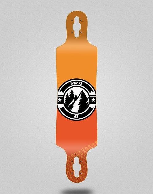 Sakari Downhill juice orange longboard deck 40x9