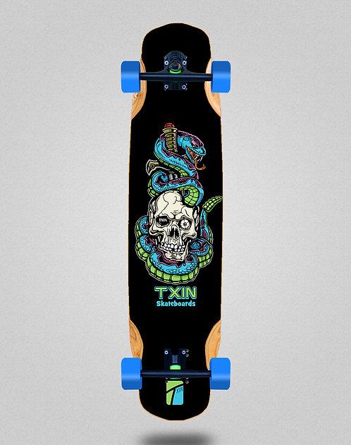 Txin Blue snake longboard complete 38x8.45