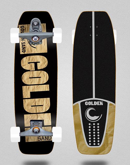 Golden Sand surfskate T12 trucks Degraded cartoon 32 tail nose