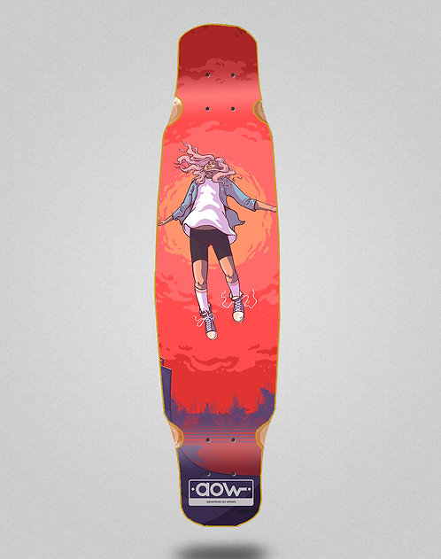 Aow Floating longboard deck bamboo dance 46x9