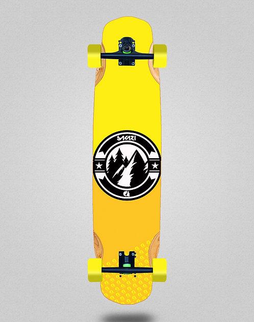 Sakari Downhill juice yellow longboard complete 38x8.45