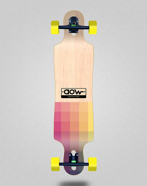 Aow Pixels longboard complete 40x9