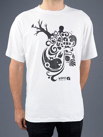 Sakari clothing - T-shirt Vin art white