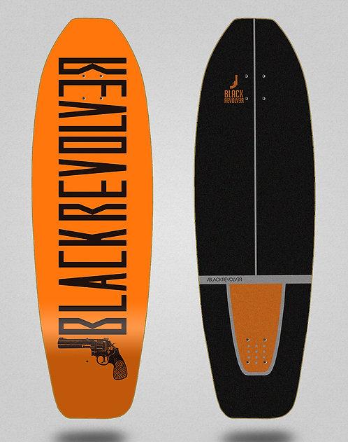 Black Revolver surfskate deck Color orange 31.5