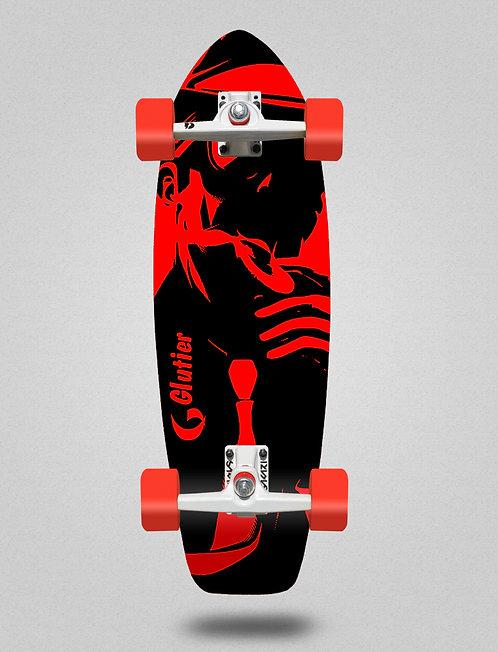Glutier surfskate - Mafia Gansta red 31