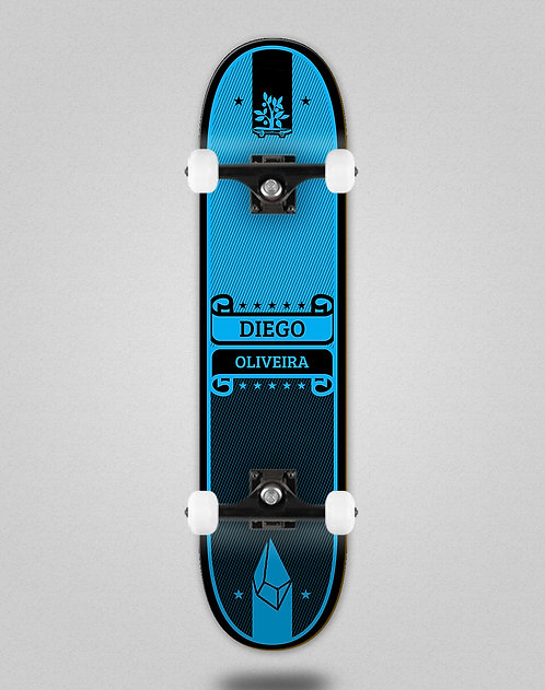 Wood light Oliveira Label blue skate complete