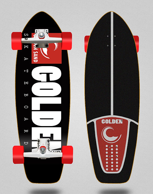 Golden Sand surfskate SGI trucks icon black red 31