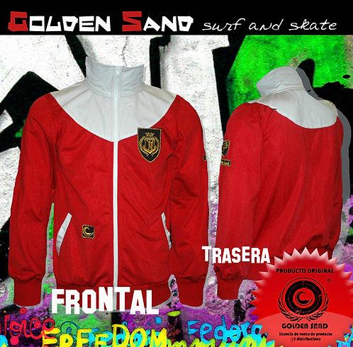 Golden Sand. Jumper Power red white