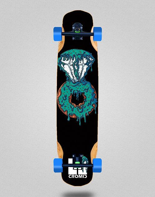 Cromic Donat blue longboard complete 38x8.45
