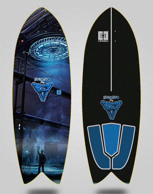 Cromic surfskate deck Eduardo Prieto Invasion 32 fish