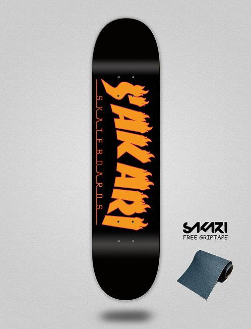 Sakari Fire orange skate deck