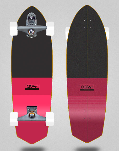 Aow surfskate T12 trucks Fastskate classic red 33