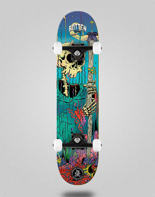 Wood light Rotten series blue skate complete