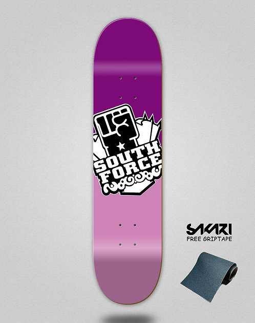 South force skate deck icon pastel