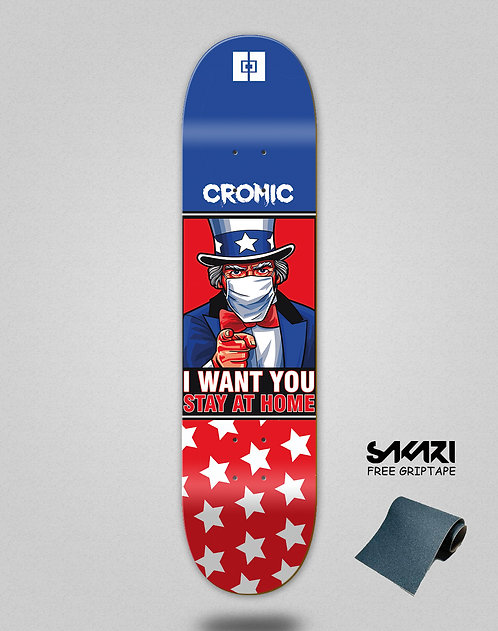 Cromic Covid I want you skate deck