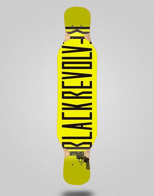 Black Revolver Color yellow longboard deck 46x10
